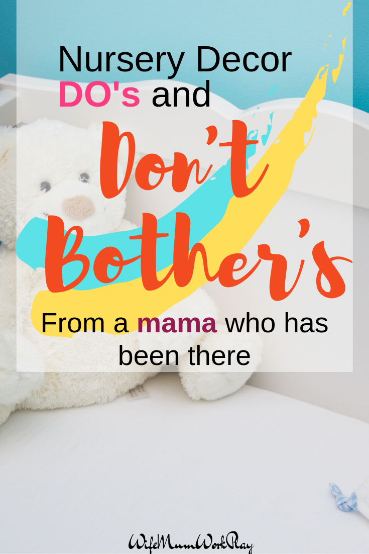 IMAGE nursery decor do's and don't bothers - from a mama who has been there