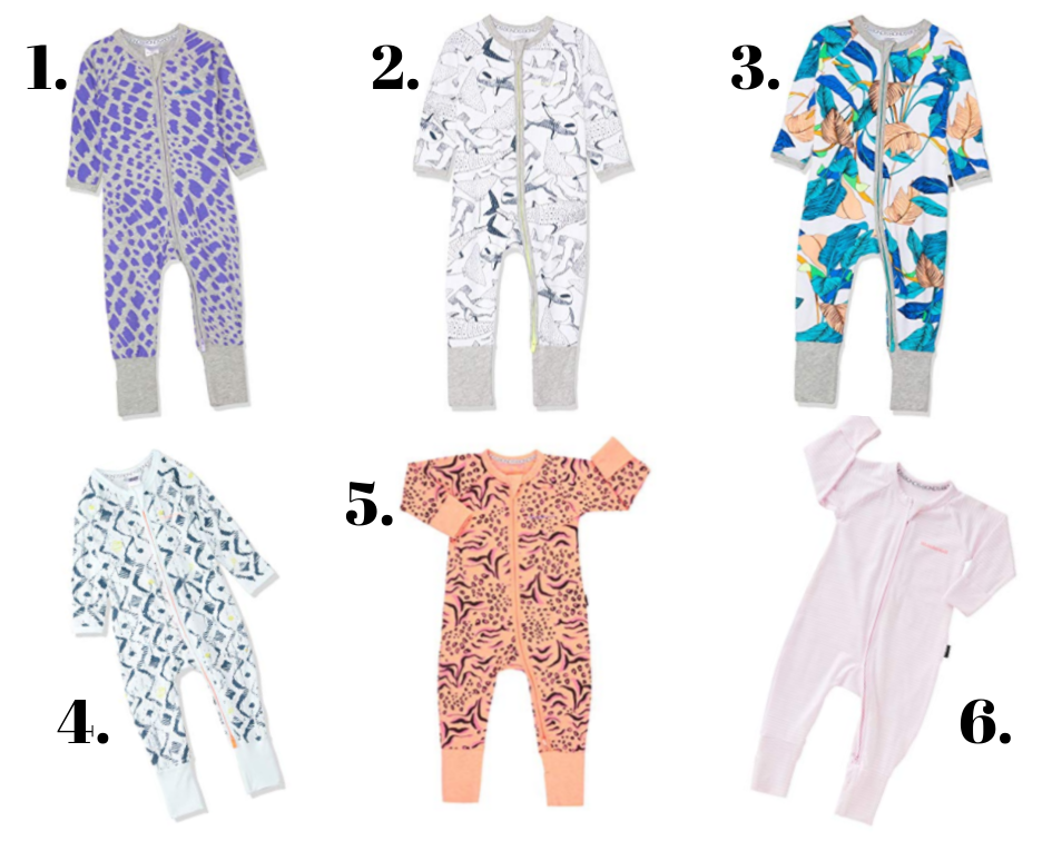 IMAGE  Baby Wondersuit  1. Wild Rafiki New Grey Marle   2. Shark In The Dark White  3. Unreal  4. Sketched Native  5. Animal Mash Up Candy Orange  6. Peony Dream & White