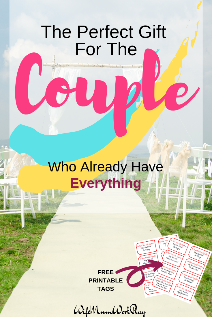 IMAGE  the perfect gift for the couple who already have everything. free printable tags