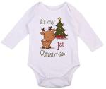 Newborn Unisex Baby Boys Girls First Christmas Deers Tree Christmas Romper Jumpsuit Outfit  https://amzn.to/2N9xJWu