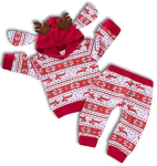 ZOELNIC Baby Girls Boys Christmas Pants Set Long Sleeve Hoodie + Snowflake Pants Outfit  https://amzn.to/2pTnzkw
