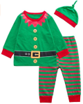 Paddy Field 3PCS Baby Boys Girls Christmas Santa Claus Costume Pajama Outfit Clothes Set  https://amzn.to/362CzgP