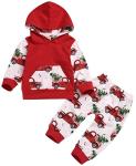 ZOELNIC Baby Girls Boys Christmas Pants Set Long Sleeve Hoodie + Snowflake Pants Outfit  https://amzn.to/32MceRU