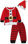 Paddy Field 3PCS Baby Boys Girls Christmas Santa Claus Costume Pajama Outfit Clothes Set  https://amzn.to/2BCwdqv