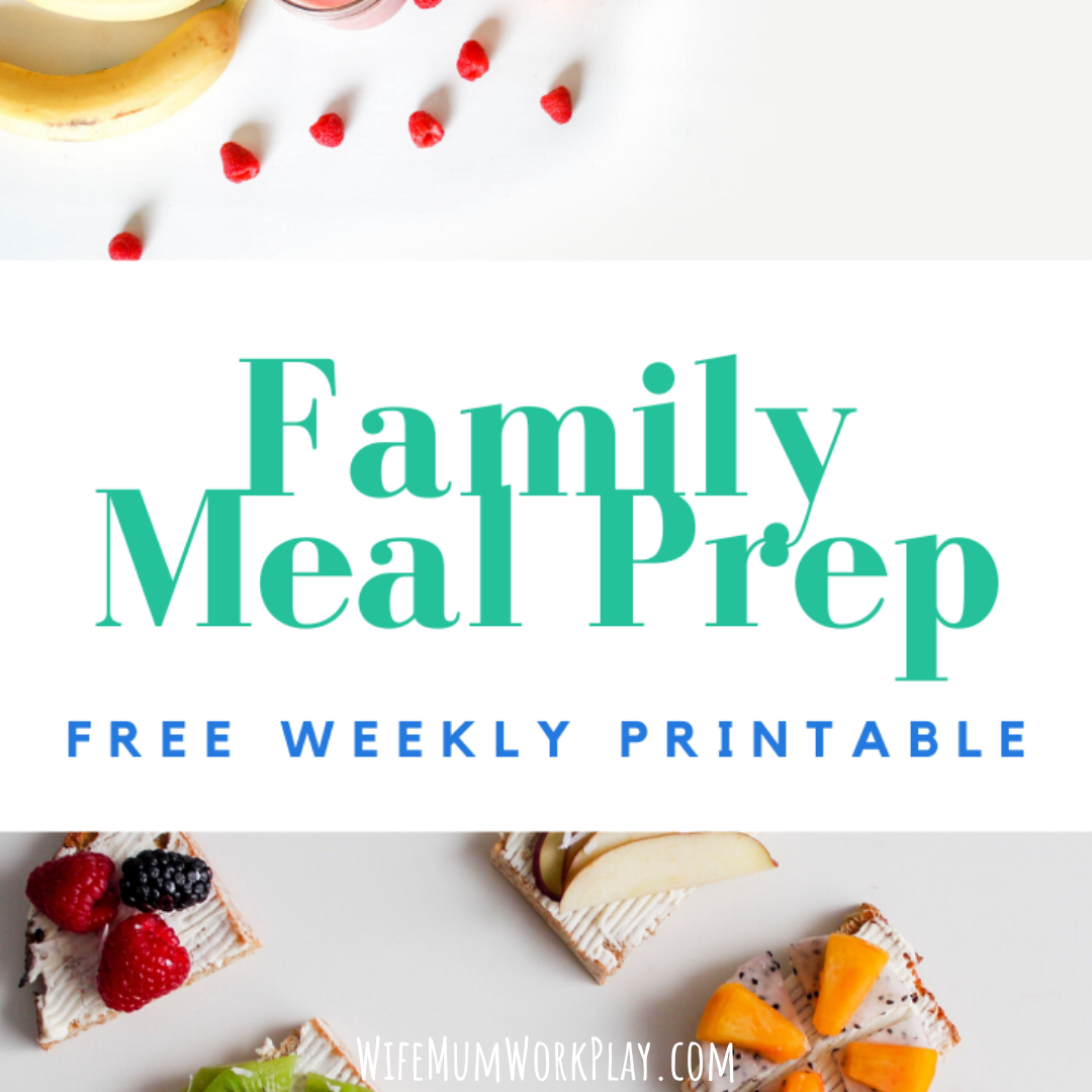 Family Menu Meal Planner - FREE PRINTABLE https://wifemumworkplay.com/2019/10/25/family-meal-planner/