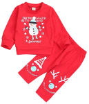 KISSB Baby Christmas Outfits Newborn Toddler Baby Boy Girl Snowman Elks Cartoon Printed Tops T-Shirt+Pants 2pc Clothes Set  https://amzn.to/2ojURsW