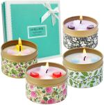 LA BELLEFÉE Scented Candles, 2.5oz Soy Wax Aromatherapy Travel Tin Gift Candle Set for Weddings, Parties Home Decor Rose, Vanilla, Lavender, Jasmine 4-Packs https://amzn.to/2r5eVR8