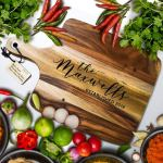 Personalised Chopping Boards, Custom Engraved Chopping Boards for Weddings, Anniversaries, Birthdays and Housewarming Gifts. Made to Order https://amzn.to/2rMHO4m