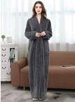 Womens Soft Long Fleece Dressing Gown Full Length Fluffy Bathrobe Sleepwear Zip Up (Grey) https://amzn.to/2LfadHf