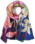 Invisible World Women's 100% Mulberry Silk Scarf Long Hand Painted Floral https://amzn.to/35Tbnjx