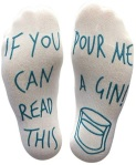 'If You Can Read This Pour Me A Gin' Funny Socks - Perfect Joke Novelty Gift For Men & Women https://amzn.to/36h6D7B